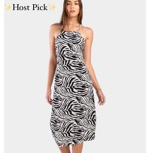 ◾️▪️Francesca's Tianna Zebra Slip Dress▪️◾️